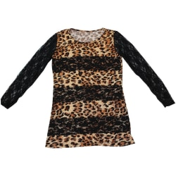 Blus topp i leopardmönster