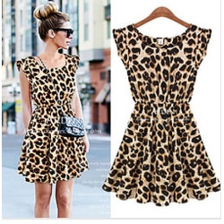 Klänning Leopardmönster