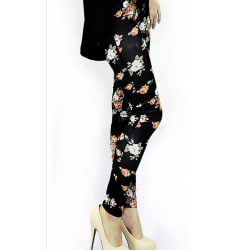 Leggings blommor S/M
