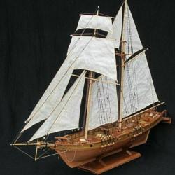 1:100 Halcon Wooden Sailing Boat Model DIY Kit Ship Assembly De one size