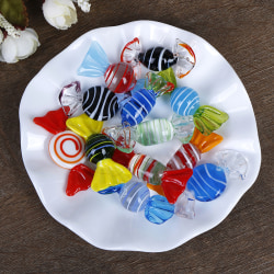 1/5/10Pcs Vintage glass sweets wedding party candy Christmas dec A3