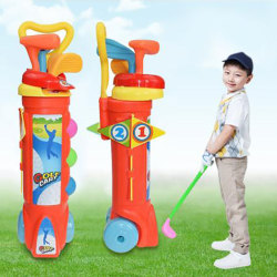 1 Set Outdoor Children Golf Club Toys Plastic Mini Golf Sports  One Size