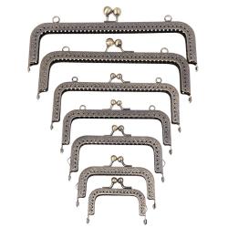 1*Square Silver Purse Bag Metal Frame Kiss Clasp Lock Clip Bags 20.5cm