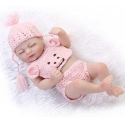 10'' Full Silicone Bathing Lifelike Doll Reborn Doll Newborn Bab Pink