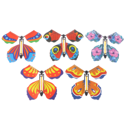 10 x magic butterfly flying butterfly with card Toy with empty h One Size