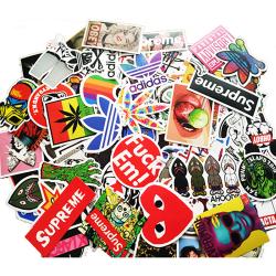 100Pcs Fashion Graffiti Stickers Skateboard Laptop Luggage Guit One Size