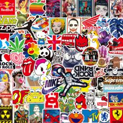 100Pcs Graffiti Skateboard Stickers Car Laptop Luggage Phone Bo One Size