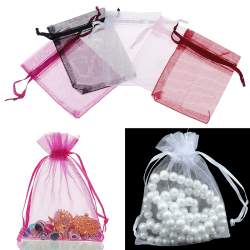 100Pcs Organza gift bags jewelry candy bag wedding favors bags  Black