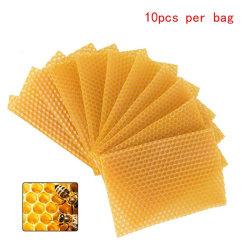 10pcs Yellow Honeycomb Foundation Bee Hive Wax Frames Beekeeping Yellow