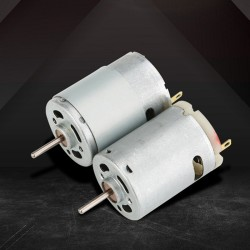 12V DC 4559RPM Torque Magnetic Mini Electric Motor for DIY Toys  silver