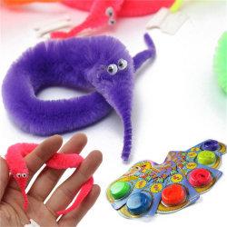 1PC Amazing Magic Trick Fuzzy Worm Wiggle Moving Sea Horse Kids One Size