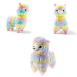 1Pc Cute 20cm soft rainbow alpaca llama plush toy dolls kids bab One Size