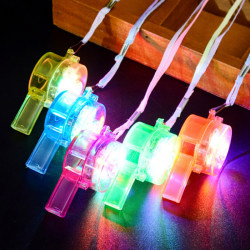 1Pc Light Up Whistle Stress Relief Toys Gift Supplies Party Favo One Size