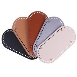 1Pc Long bottom for knitting bag pu leather 60 holes women bag  Khaki
