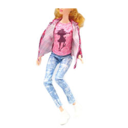 1set doll clothes outfit casual pants+coat+shirt for barbie doll