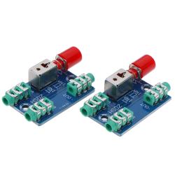 2 Audio switching board 3.5mm A/B audio input block optional se One Size