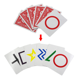2 Sets ESP Classic Cards Group Magic Tricks Easy To Do Children one size