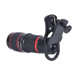 20X Zoom Telephoto Lens 4K HD Monocular Telescope Phone Camera  Black 20X