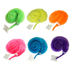 2Pcs funny magic worm fuzzy and soft cute toy one size