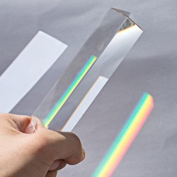 30*30*60mm Triangular Prism BK7 Optical Prisms Glass Physics Te