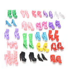 40 Pcs/20 Pairs Slap-up Fashion High-Heeled Shoes For Barbie Dol