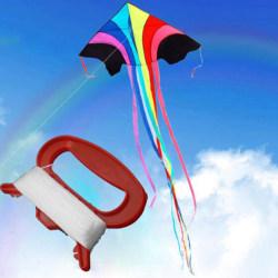 50 m utomhussport Fly Kite Line Sträng med D-formvinda Boa