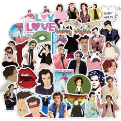 50Pcs British Singer Harry Edward Styles Stickers Laptop Bottle One Size