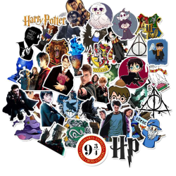 50Pcs Character Harry Potter Luggage Stickers Magic World Skate