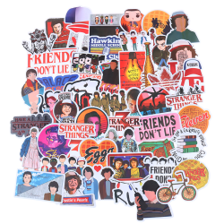 50Pcs Stranger Things Skateboard Stickers Vinyl Laptop Luggage  One Size