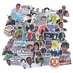 50Pcs The Office Skateboard Stickers Vinyl Laptop Luggage Decal One Size