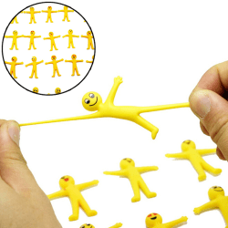 5Pcs anti stress squeeze yellow guy novelty & gag toys decompres one size