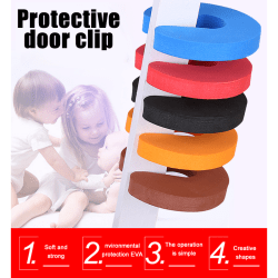 5PCS Baby Safety Locks Protection EVA C Shape Security Cabinet L White