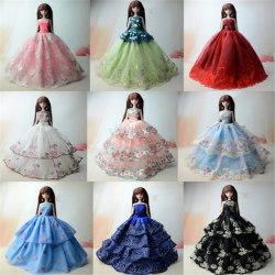5pcs/set Wedding Evening Dress Princess Gown Clothes For Barbie  0 0