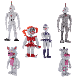 6 PCS Five Nights At Freddy's FNAF Bunnie Game Action Figure Dol One Size