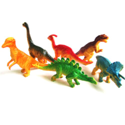6pcs Large Assorted Dinosaurs Toy Plastic Figures Simulation Mod One Size