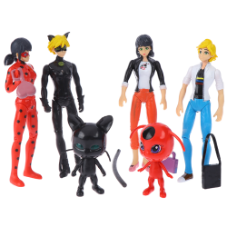 6Pcs Miraculous Ladybug Action Figure Doll Toy Gift Collection  one size
