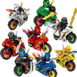 8Stk Ninjago Motorcycle Set Minifigures Ninja Mini Figures Block one size