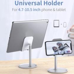 Adjustable Desktop Phone Holder Tablet Support Desk Mount Phone White