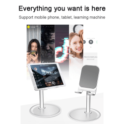 Adjustable Universal Tablet Stand Desktop Holder Mount Mobile Ph black Short