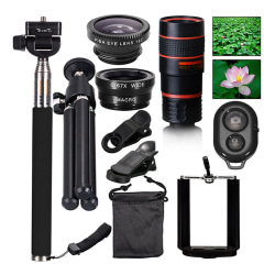 All in 1 Accessories Phone Camera Lens Top Travel Kit For Mobil