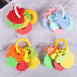Baby Molar Toy Kids Teether Fruit Shape Teether Baby Rattle Safe D