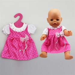 Beautiful Doll Pink Dress Fit 43cm Baby Born zapf 18 Inch Americ One Size