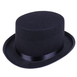 Black Top Hat Magician Costume Tuxedo Mat Hatter Wedding Christ A2