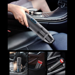 Car Handheld Vacuum Cleaner Hand Cordless Powerful Suction Recha Black