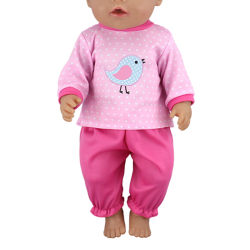 Cartoon doll outfit set doll coat pants for 18 inch 43cm dolls d One Size