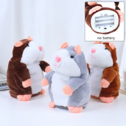 Cheeky Hamster Repeats What You Say Electronic Pet Talking Plush Grey