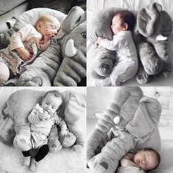 Children Baby Elephant Pillow Soft Toy Stuffed Animal Toy Pillow Gray