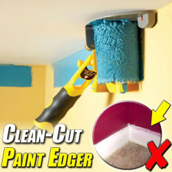 Clean-Cut Paint Edger Roller Brush Safe Tool for Home Room Wall  onesize