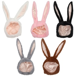 Cute Girl Hat Plush Rabbit Bunny Ears Hat Earflap Cap Head Warme White