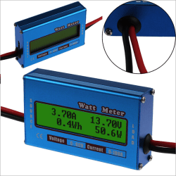DC combo Meter Digital LCD Watt Power Volt Amp RC Battery chargi One Size